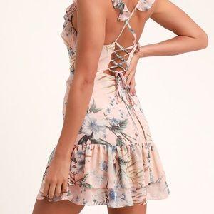 Summer Blush Ruffle dress